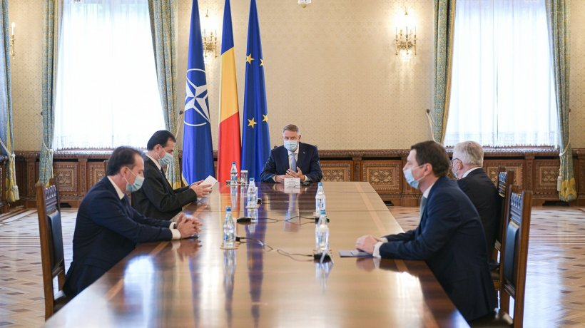 Klaus Iohannis i-a chemat la o ședință privind evaluarea situației economice pe Orban, Isărescu și Cîțu