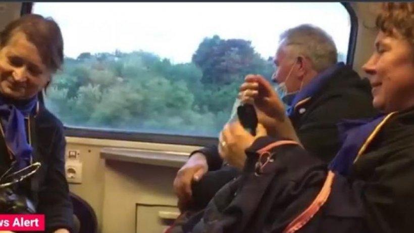 Aglomerație în tren pe ruta Brașov-București. Regulile de distanțare, ignorate. Răspunsul CFR
