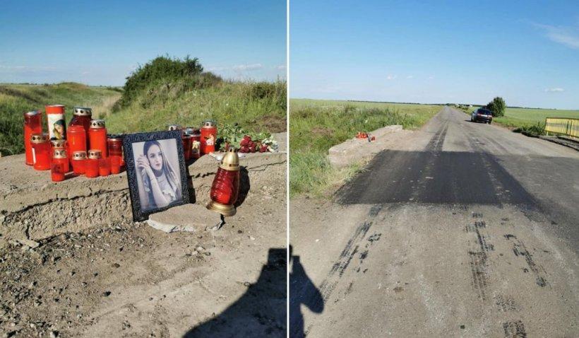 Adriana a murit la 19 ani din cauza unei gropi în șosea, în Olt: 'Ziua următoare s-a asfaltat groapa!'