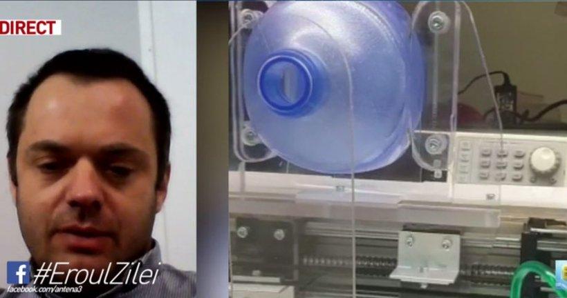 Eroul zilei. Inginerul care a inventat un aparat de ventilare pentru bolnavii de COVID