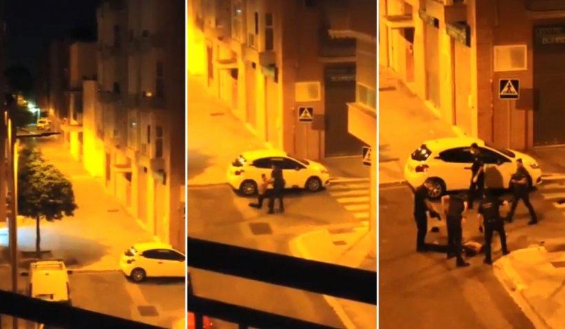 Un bărbat s-a aruncat de la etaj și s-a bătut cu șase polițiști, în Valencia, Spania