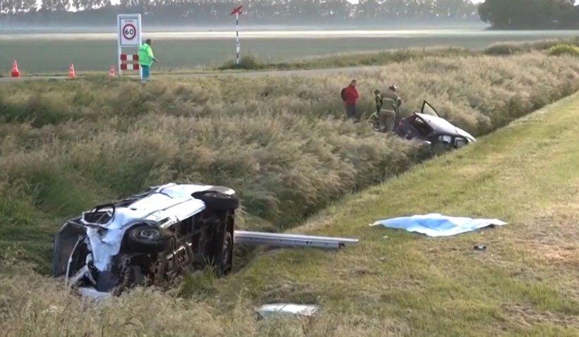 Microbuz cu muncitori români, accident cumplit în Olanda: doi morți și șapte răniți