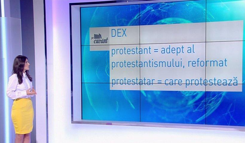 """Pe cuvânt, cu Ana Iorga. Cum folosim corect cuvintele """"protestant"""" și """"protestatar"""""""