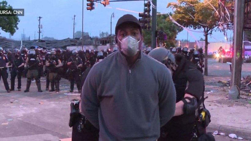 Jurnaliști CNN, arestați în direct, la protestele din Minneapolis