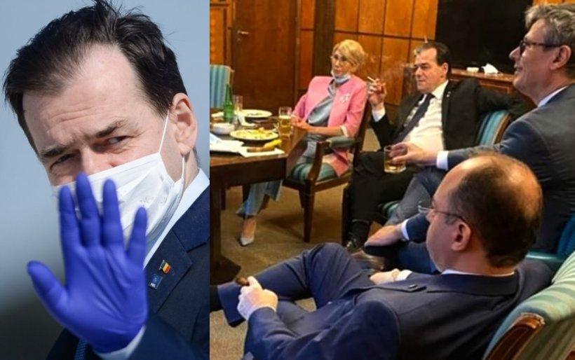 Reacția lui Orban la fotografia în care este imortalizat când fumează într-un birou al Guvernului