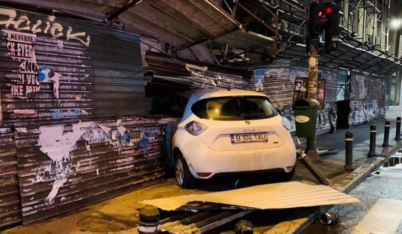 Accident spectaculos în București. Polițist rutier, lovit de un şofer care circula cu viteză. Cum s-a terminat urmărirea VIDEO