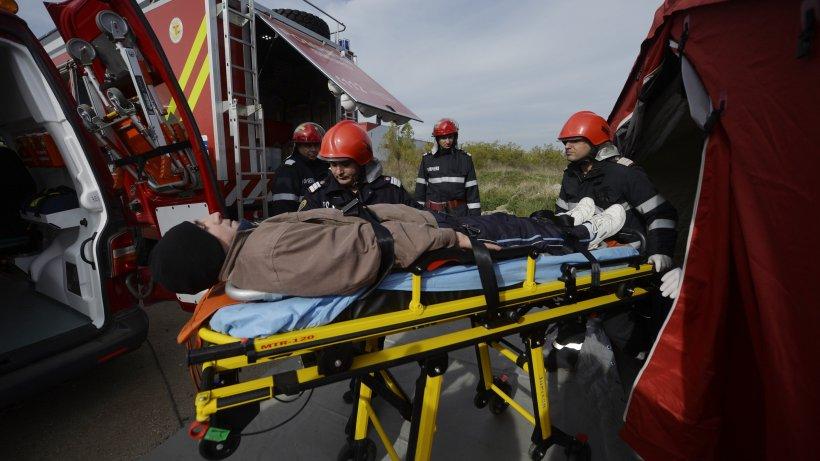 Explozie într-un sat din Sibiu. Trei adulți și doi copii au suferit arsuri grave