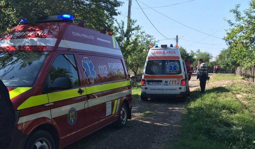 Desfășurare de forțe în Ialomița. O femeie a fost salvată de pompieri după ce a căzut într-o fântână