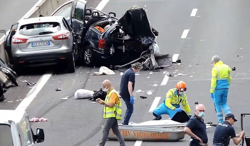 Patru români, printre care un bebeluș și o fetiță de 10 ani, au murit într-un cumplit accident în Italia
