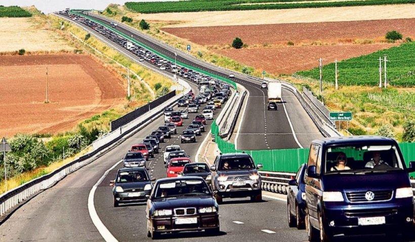 Aglomerație uriașă pe Autostrada Soarelui, pe sensul de mers către Capitală