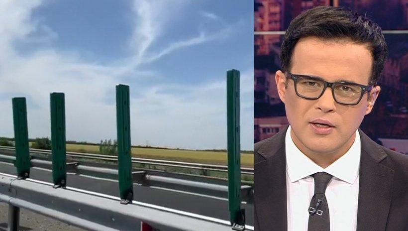 """Imaginile revoltătoare filmate de Mihai Gâdea pe Autostrada Soarelui: """"Este strigător la cer!"""""""