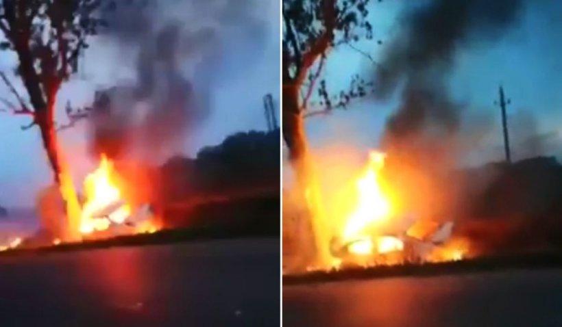 Doi polițiști din Brăila au murit arși în mașină, după un cumplit accident în Șuțești