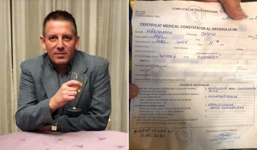Certificatul de deces al lui Costin Mărculescu. Care este adevărata cauză a morții artistului?