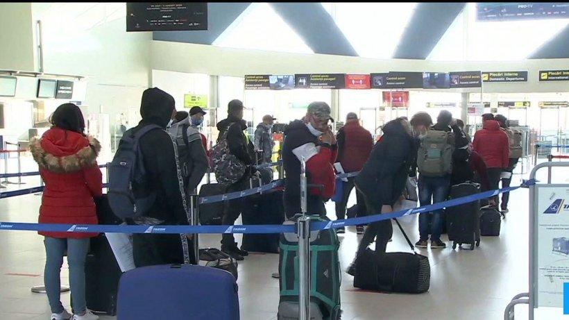 Peste 500 de români au plecat de pe aeroportul Otopeni spre Germania, Austria şi Elveţia