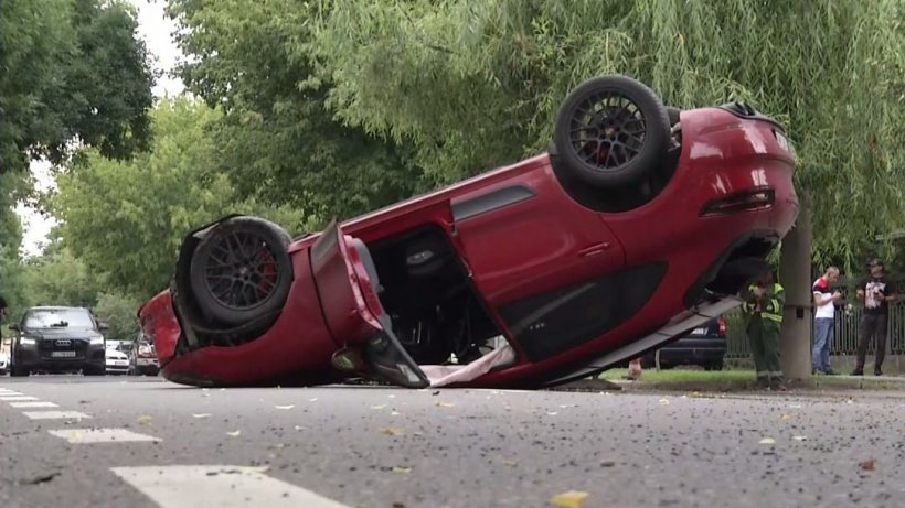 Iubita lui Ciro Castellano s-a răsturnat cu maşina pe şoseaua Nordului din Capitală