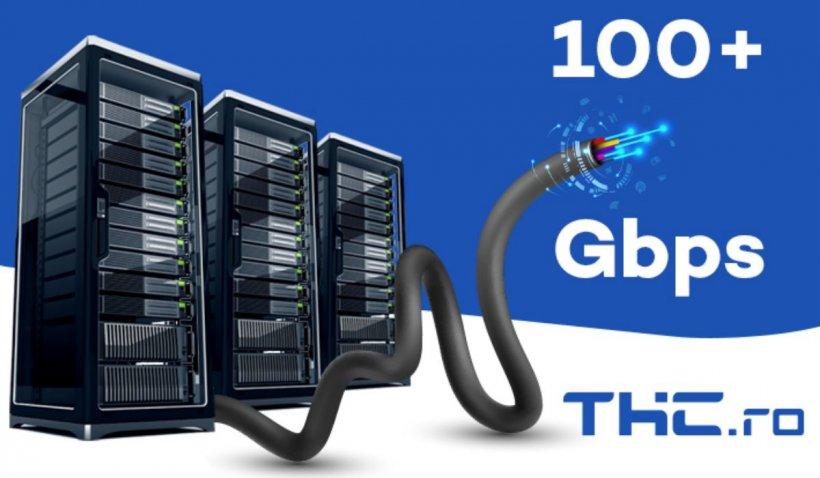 Viteza de incarcare la superlativ! THC.ro este prima companie din Romania care detine linii de fibra optica cu viteze de 100 Gbps