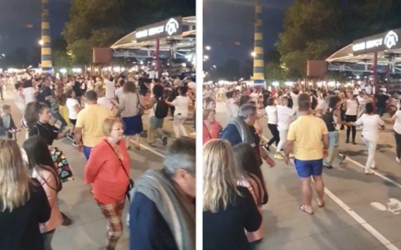 Imagini șocante din Mamaia. Sute de turiști, prinși în horă, fără să respecte distanțarea socială