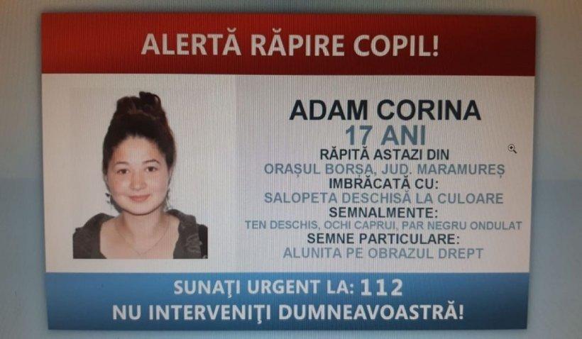 Adolescentă de 17 ani, răpită de pe o stradă din Borșa