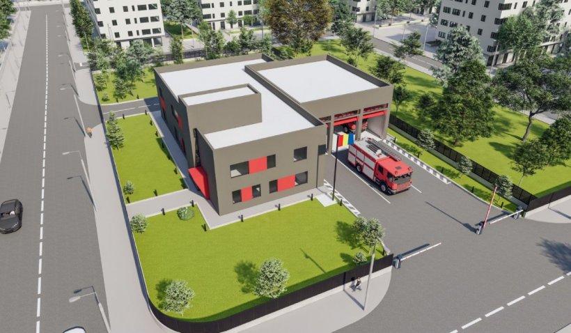 Prima unitate de pompieri construită în București în ultimii 30 de ani, ridicată în Sectorul 4