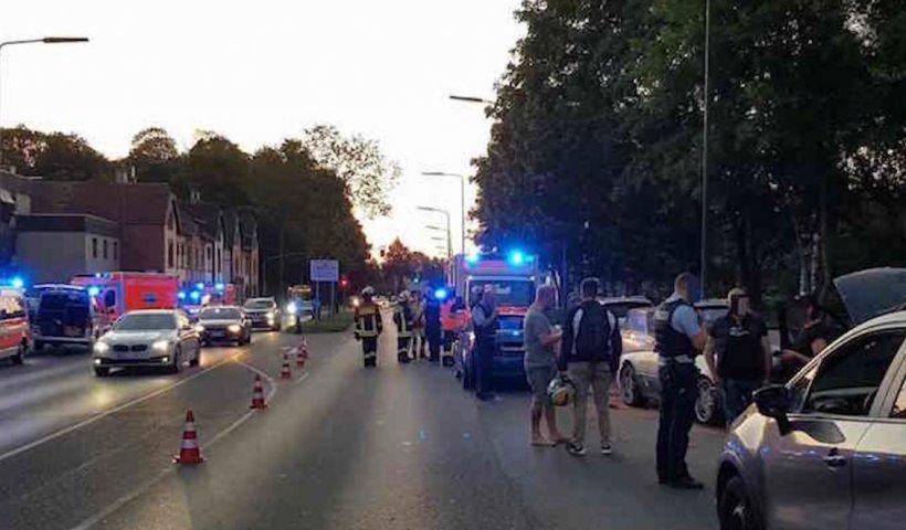 Români blocați în trafic pe o stradă din Germania, atac în stil mafiot