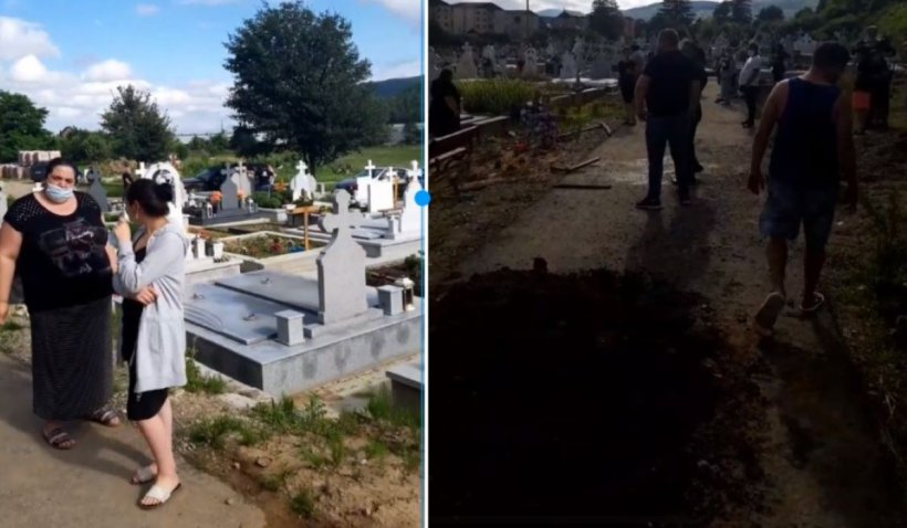 Scandal la înmormântarea unui bolnav COVID, după ce rudele au desigilat sicriul: 'Ne obligă să-l înmormântăm de COVID ca să ia bani' - VIDEO