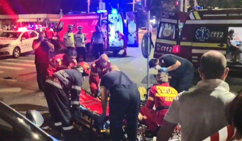 Accident teribil în zona Gorjului din București, un motociclist a rămas fără un picior