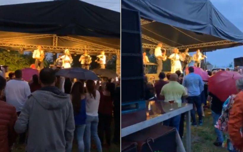 Concert cu taraf și sute de spectatori, la Brașov - VIDEO
