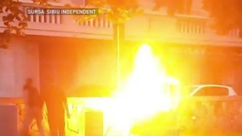 Explozie în centrul oraşului Sibiu! Doar un miracol a făcut ca nimeni să nu fie rănit