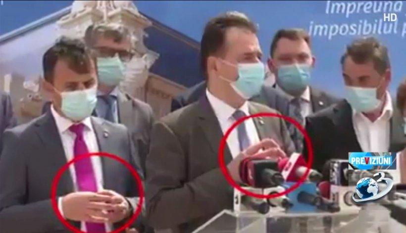 """Comedie pe scena politică. Ministrul """"Grindă"""" mimează gesturile premierului Orban, chiar când e filmat - VIDEO"""