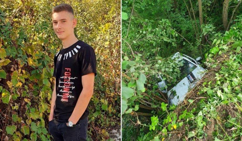 Andrei a murit la 18 ani, abandonat de prietenii săi în mașina distrusă într-un accident, în Vâlcea