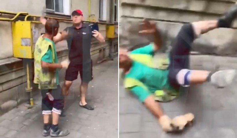 Muncitor din Iași filmat când este bătut fără milă de un lector universitar deranjat de zgomot
