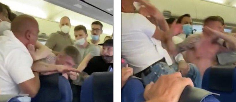 S-au luat la bătaie în avion, de față cu toată lumea - De la ce a pornit circul