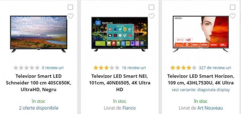 eMAG reduceri. 3 televizoare 4K Ultra HD sub 1.100 de lei