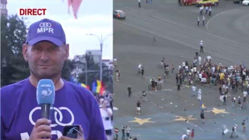 Imagini de la protestul din Piaţa Victoriei! Viorel Cataramă despre coronavirus: ''Există, dar nu e atât de periculos''