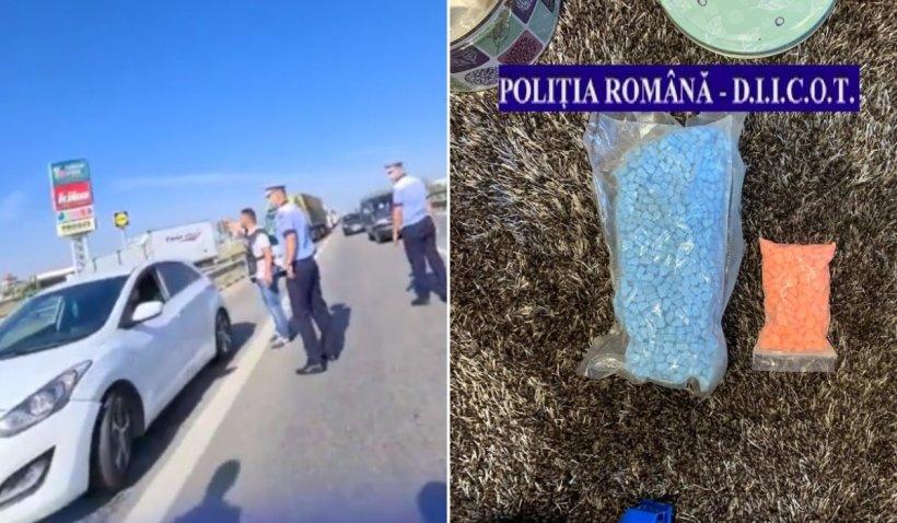 Tânăr din Tulcea, flagrant pe autostrada A1 cu droguri de peste 14.000€