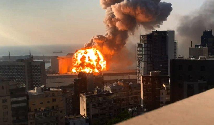 Noi imagini HD cu explozia uriașă din Beirut în slow motion