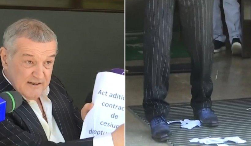 Disperat că pierde bani, Becali s-a dezlănţuit şi a rupt un act în faţa jurnaliştilor: ''Eu nu accept sa fiu luat de prost!''