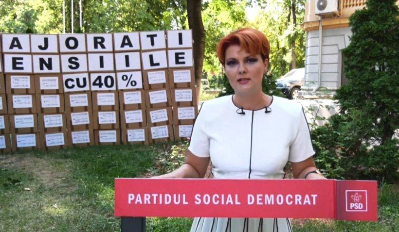 """Lia Olguța Vasilescu, avertisment pentru Guvern: """"Nu pensionarii trebuie să plătească tunurile din această pandemie"""""""
