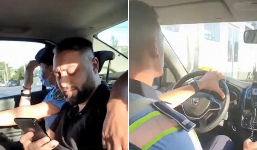 """Polițiști umiliți pe TikTok chiar în mașina de Poliție: """"Fă stânga acolo, boss!"""""""