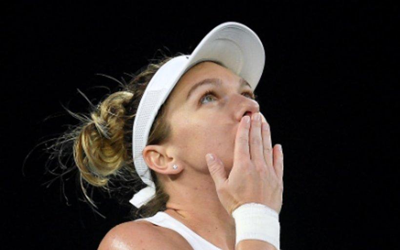Simona Halep, în finala turneului WTA de la Praga. A bătut-o în două seturi pe Irina Begu