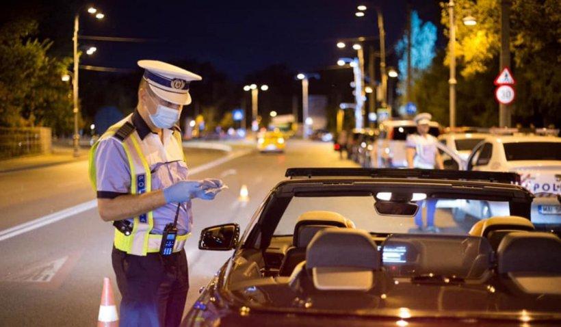 Razie uriașă în București pentru prinderea șoferilor drogați sau beți