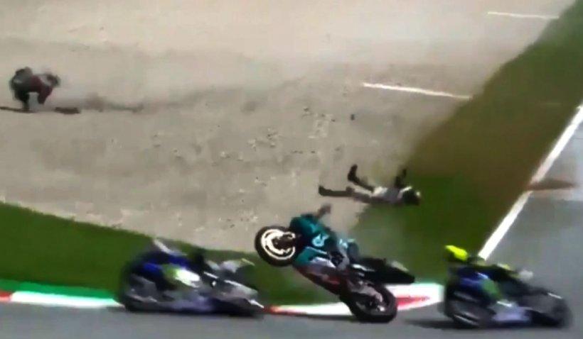 Valentino Rossi a trecut milimetric pe lângă moarte. Accident îngrozitor în MotoGP, la Marele Premiu al Austriei