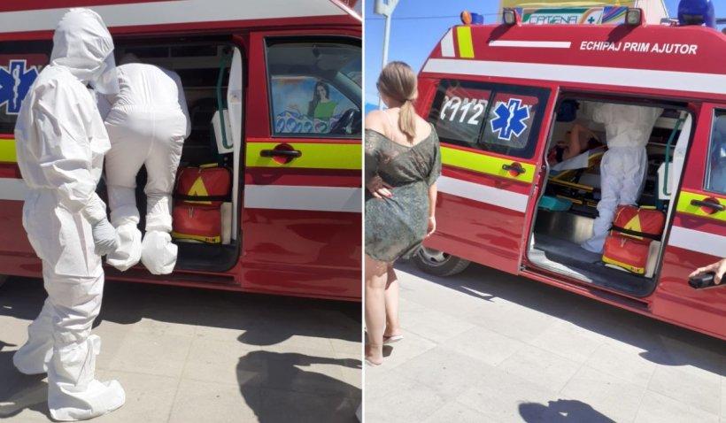 Tânără suspectă de COVID-19, luată direct de pe plajă cu o ambulanță SMURD