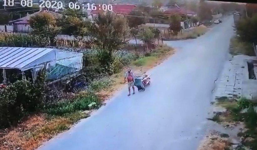 Un bărbat din Murfatlar și-a pus tatăl mort pe un căruț și a mers la cimitir să îl îngroape