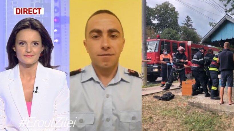 Daniel Savin, pompierul devenit înger păzitor pentru un bărbat căzut în fântână, la 22 de metri