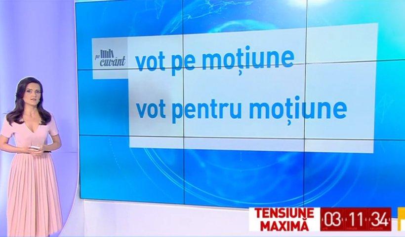 """Cum spunem corect: """"votul pe moţiunea de cenzură"""" sau """"votul pentru moţiunea de cenzură""""?"""