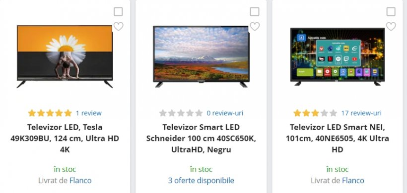 eMAG reduceri. 3 televizoare 4K Ultra HD sub 1.000 de lei