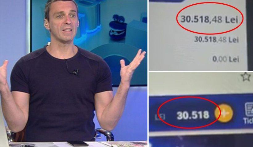 """Mircea Badea a arătat pe Facebook cât a câştigat din pariuri în ultima lună: """"Doresc să fiu scutit de sfaturi"""""""