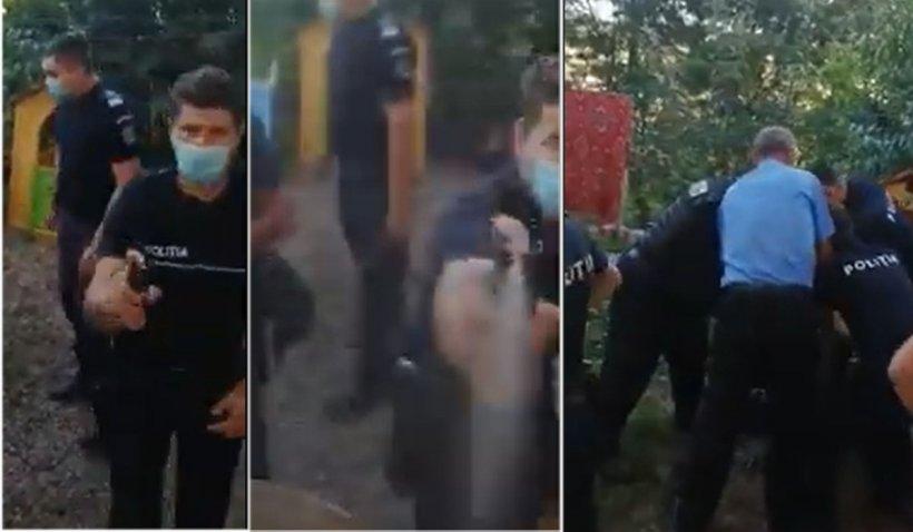 Poliţistul care a dat cu spray lacrimogen către o fetiţă de 5 ani riscă să fie dat afară
