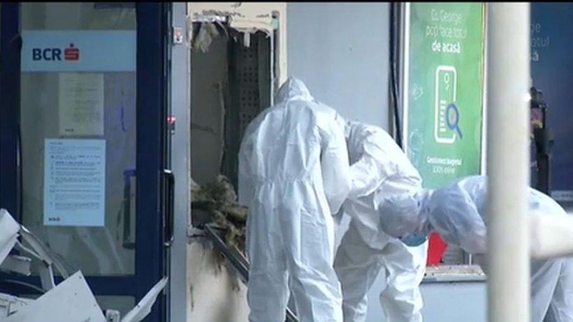 Explozie la o bancă din Otopeni! Două bancomate au fost aruncate în aer